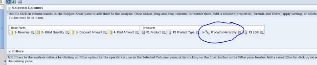 Detail report - step 1 - add hirarchical column