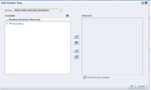 Detail report - step 4 - Sel Stp  - start with overwrite with prompt