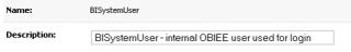 User description