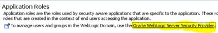 Weblogic - application roles