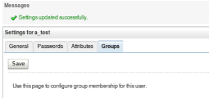WLSAC - Edit users - add group - success