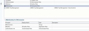 WLSEM - Application Roles - BIConsumer - membership