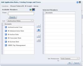 Catalog - folder - permissions - add