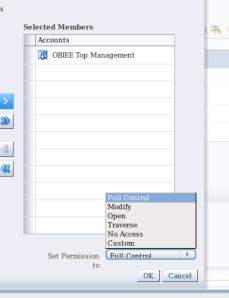 Catalog - folder - permissions - permissions options