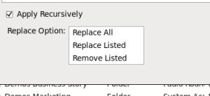 CM - Permissions - applicability opions