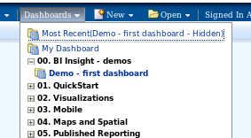 weblogic - dashboards