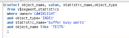 buffer busy waits - SQL